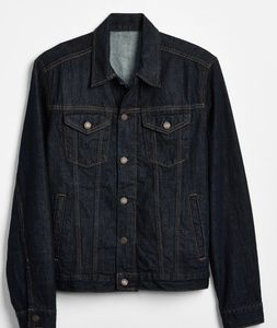 Gap Blue Jeans Denim Trucker Jean Jacket Dark Wash